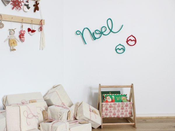 Knitted Neon Christmas Word - Noel